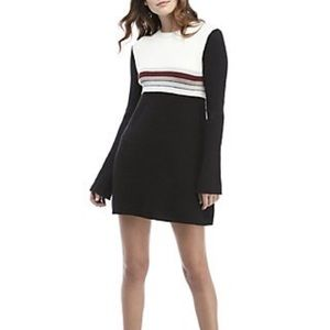 Free People || Color-Block Swit Mini Dress